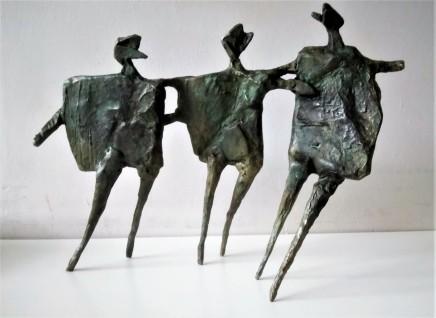 Neil Wood Running Children II, 2017 Bronze 30 x 41 x 9 cm Edition of 9