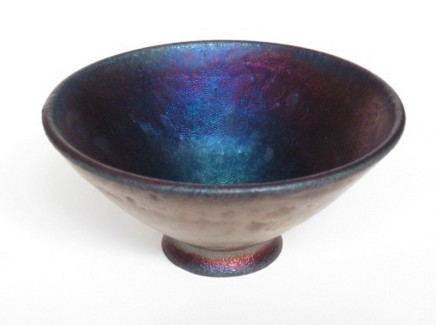 Keith Menear, Iridescent Conical Bowls
