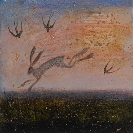 Catherine Hyde The Remains Of Summer, 2018 Acrylic on canvas 20 x 20 cm