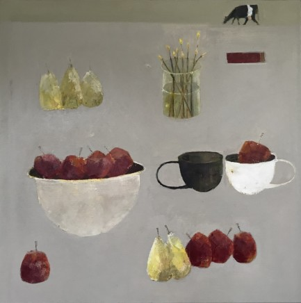 Marilyn Browning Here are a Few of my Favourite Things I Oil on canvas 100 x 100 cm