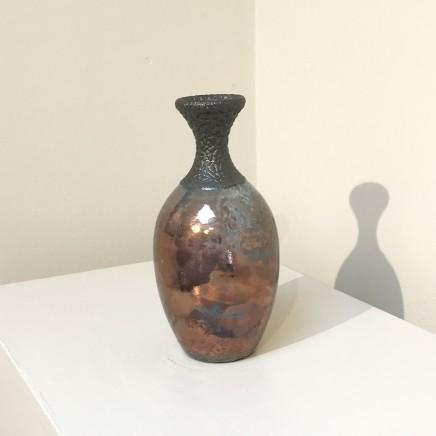 Keith Menear  Raku Bottle 1810-7  Luster Glaze Ceramic  15 x 7 cm