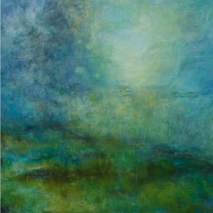 Debra Royston Spring Sun Mixed media on canvas 100 x 100 cm