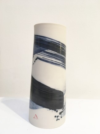 Ali Tomlin, Blue and white medium vase