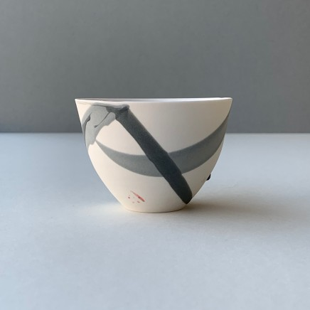 Ali Tomlin Small Cup / Bowl - Grey Splash Porcelain AT8