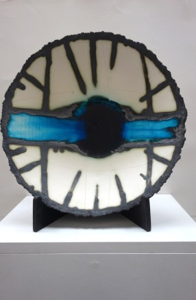 Mary Jane Evans Bluepool 4 Handbuilt porcelain vessels 41 (dia.) x 10 (depth) cm