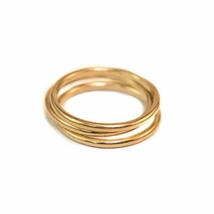 Daya Daya Designs 3ct Eco Gold Stacked Rings Upcycled Gold Hand Crafted