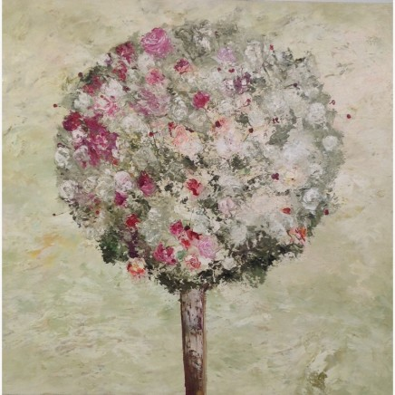 Lorraine Wake Rose Tree Oil on canvas 90 x 90 cm