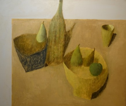 Nicholas Turner RWA Table with Apples and Pears Oil on linen 50 x 60 cm