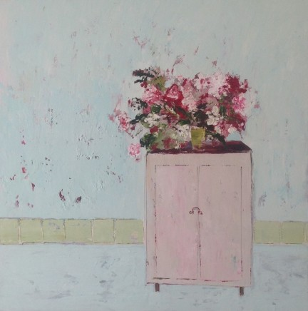 Lorraine Wake Cupboard Oil on canvas 60 x 60 cm