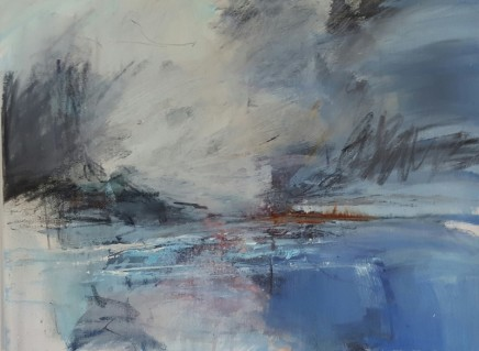 Andrew Kinmont Headland Mixed media on canvas 46 x 60 cm