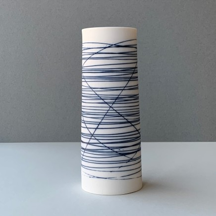 Ali Tomlin Cylinder - Blue Lines Porcelain AT48