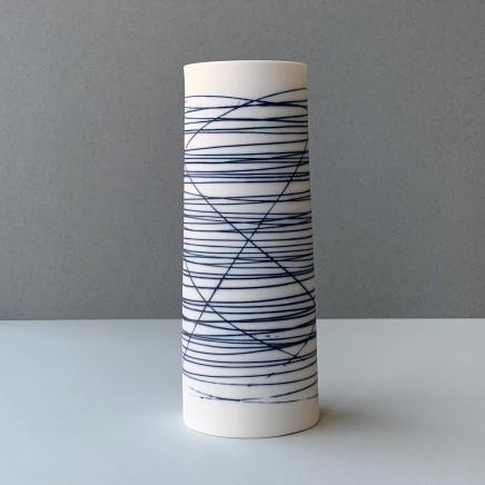 Ali Tomlin Cylinder - Blue Lines Porcelain