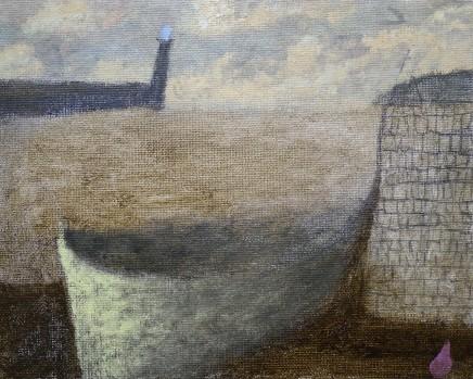 Nicholas Turner RWA Boat and Buoy Oil on board 25.5 x 30.5