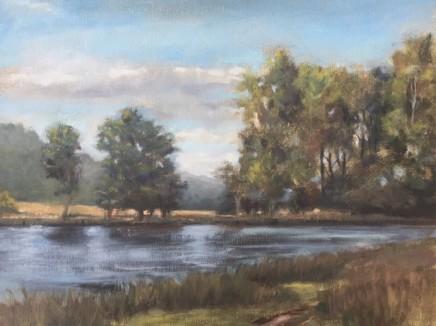 Tim Daoust Landscape water Oil on Belgium linen 41 x 61 cm
