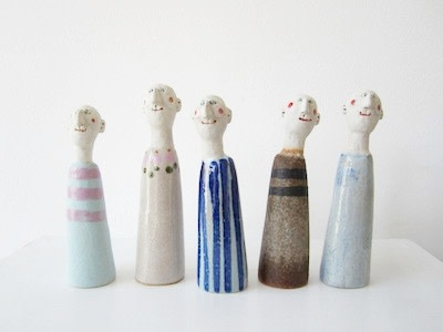 Jane Muir Little Men 1 Ceramic 14 x 4 cm Each