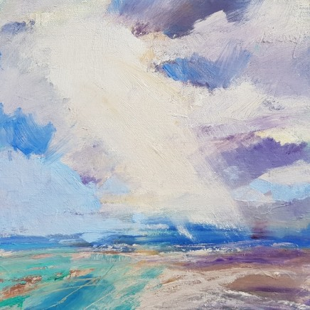 Andrew Kinmont Slanting Light Oil on canvas 36 x 36 cm