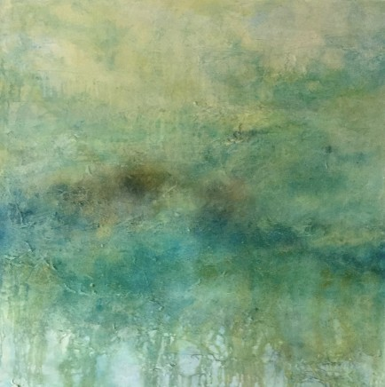 Debra Royston Summer Dreaming Mixed Media on Canvas 100 x 100 cm