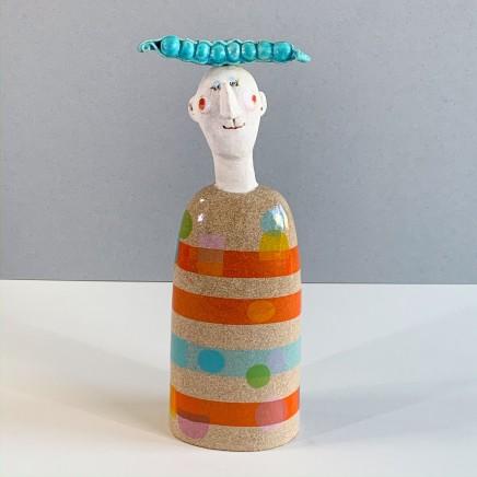Jane Muir Pea-Pod Head Ceramic 30 x 13 x 5 cm