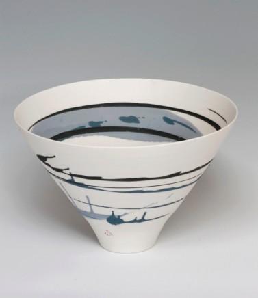 Ali Tomlin, Medium Bowl Blue Splashes