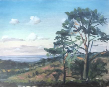 Tim Daoust Landscape clouds Oil on Belgium linen 20 x 25 cm