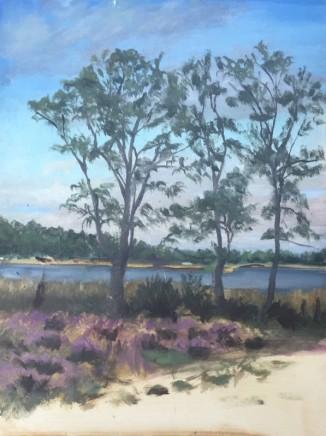 Tim Daoust Landscape heather Oil on Belgium linen 40 x 30 cm