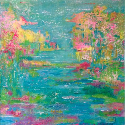 Linda Franklin Summer on the Pond Acrylic on canvas 90 x 90 cm