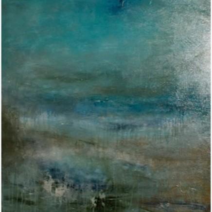 Debra Royston Gentle Waves Mixed media on Canvas 80 x 80 cm