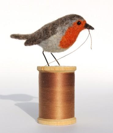 Dinny Pocock Robbin Bobbin Wool fibres and wire frame