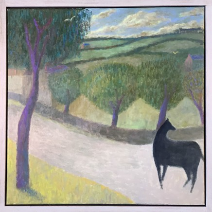 Nicholas Turner RWA Horse on a Lane Oil on linen 60 x 60 cm