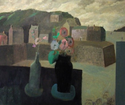 Nicholas Turner RWA Cornish Table with Flowers Oil on board 51 x 61 cm