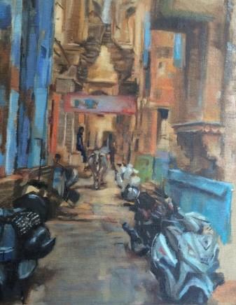 Clemmie St John Webster Jodhpur, India Oil on linen 42 x 29 cm