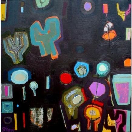 Stephanie Stow Midsummer Night Acrylic on canvas 50 x 50 cm