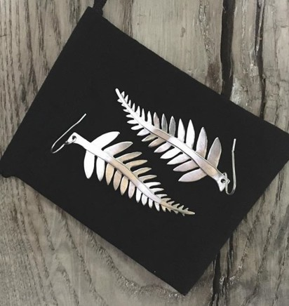 Daya Daya Designs 925 Fused Silver Fern Earrings Upcycled Silver Hand Crafted