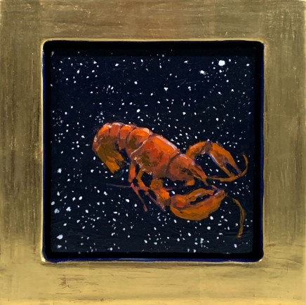 Julie Fleming Williams Lobster II Oil on canvas 15 x 15 cm