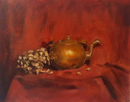 Guillermo Howes Tea pot and dried flower Oil on linen 33 x 40 cm