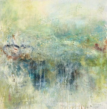 Debra Royston Secret Garden II Mixed Media on Canvas 100 x 100 cm