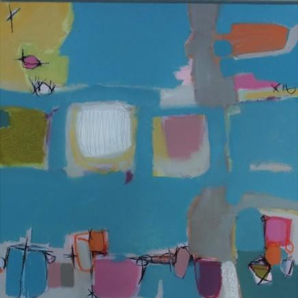 Stephanie Stow Atlantic Blue Acrylic on canvas 60 x 60 cm