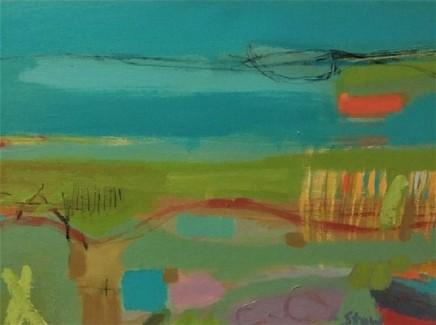Stephanie Stow Towards Blue Yonder Acrylic on canvas 30 x 40 cm