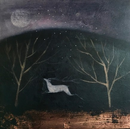 Catherine Hyde Full Moon, Winter Solstice Acrylic on canvas 30.5 x 30.5 cm