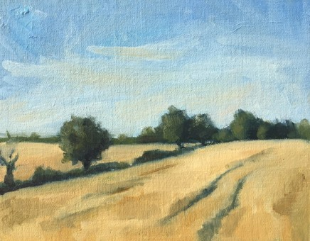 Georgie Vestey Withersfield Oil on canvas 19.5 x 24.5 cm