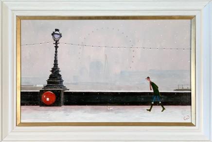 Chris Williamson The Misty Eye, London Oil on panel 30.5 x 49.5 cm