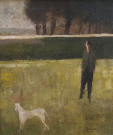 David Brayne RWS Hedge Line Pigment and watercolour on paper 24 x 20 cm