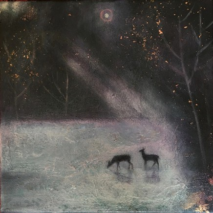 Catherine Hyde The Dews Mist, 2018 Acrylic on canvas 30.5 x 30.5 cm