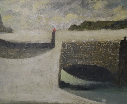 Nicholas Turner RWA Harbour Wall Oil on linen 25 x 30cm