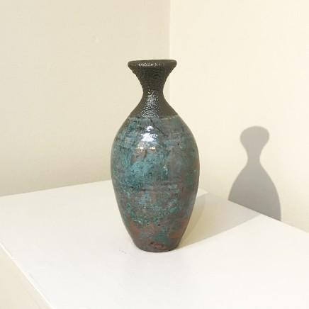 Keith Menear  Raku Bottle 1810-5  Luster Glaze Ceramic  15 x 7 cm
