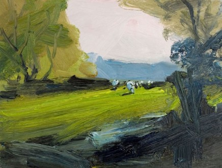 Robert Newton, Hazy Light, Grazing Cows