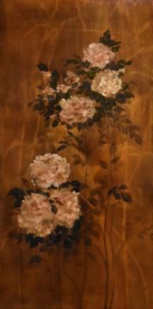 Nneka Uzoigwe Madame Alfred Carriere Oil on marine plywood 165 x 61 x 1.2 cm