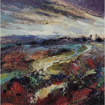Nicola Rose Midwinter Colour, Chun Castle Oil and sand on canvas 50 x 50 cm