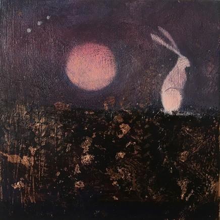 Catherine Hyde The Harvest Moon, 2018 Acrylic on canvas 20 x 20 cm