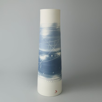 Ali Tomlin, Tall Cylinder Vase - Two Blues